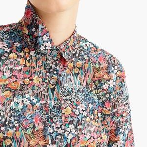 J. Crew perfect shirt liberty London print
